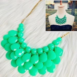 Teardrop Bib Statement Necklace
